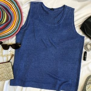 talbots woman linen sweater sleeveless tank 2X A27